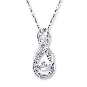 Double Infinity Silver Necklace